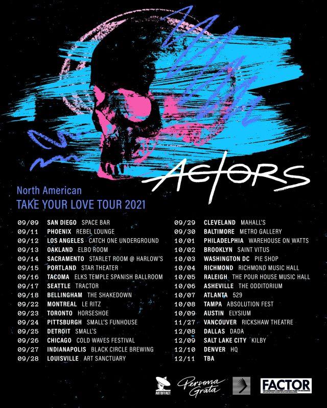 ACTORS announces North American tour dates!